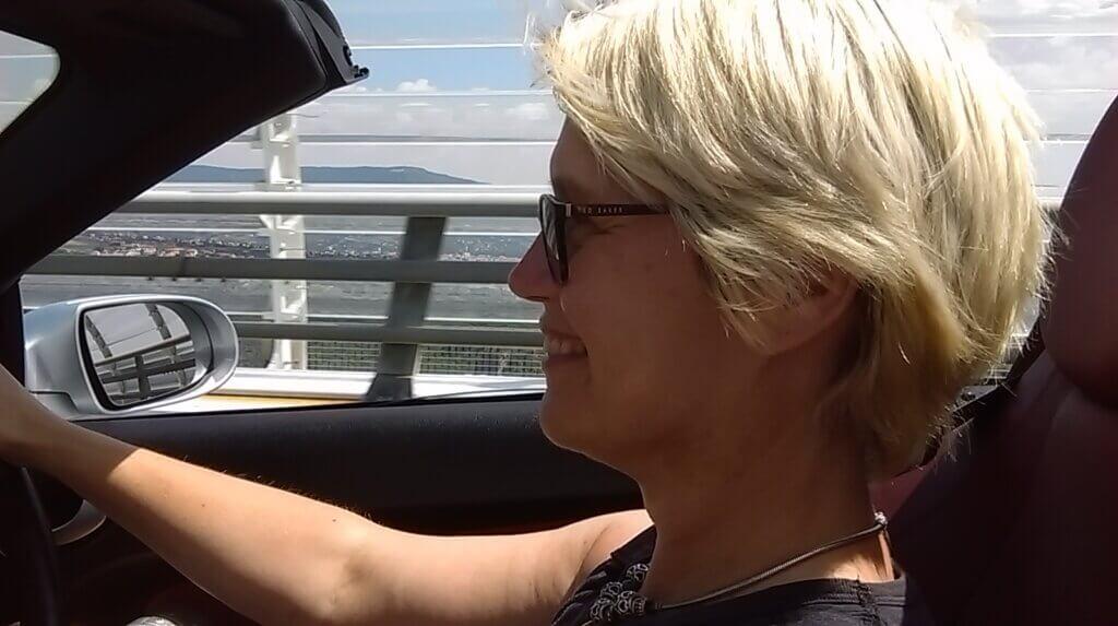 Zoë Sharp drives the Millau Bridge